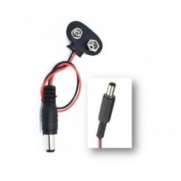 Conector clip pila 9v DC a...
