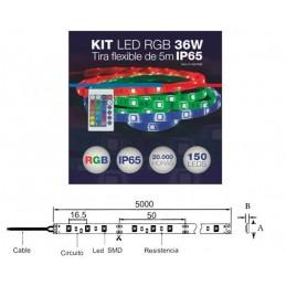 Kit tira de LED flexible...